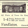 T.C. Van Eaton's Ad for City Lots (1913)