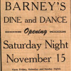 Barney's Opens 1945