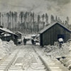 Snow at a Logging Camp