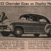 1952 Chevrolet Goes on Display in Van Eaton's Showroom