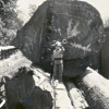 Young Roy Swanson and a Very Large Log (ca. 1939)