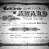 1921 Third Grade Award for Marion Newton