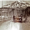 Touring Mount Rainier in an Electric Car — ca. 1920