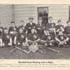 1913 Baseball team & School Courses