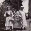 Olava Kjelstand and her sister Marie out fishing