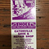 Eatonville Shoe & Repair Shot matchbook cover