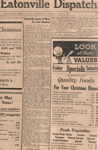 Article on Missing Bomber, 1946