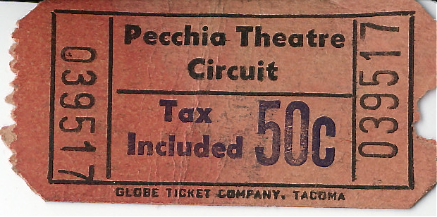 Ticket Front - Pecchia Theatre Curcuit