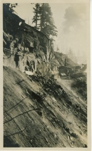 Machinery on hillside - Nisqually Road