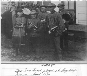 Town band around 1910