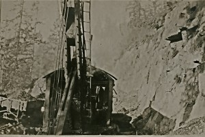 The iron used to move rock making Canyon Road, 1920