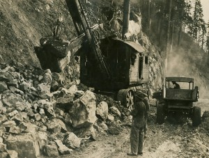 Moving Rock on Canyon Road, 1920