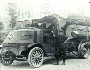 Logging with a Mac Truck