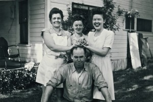 Cecil Williams and sisters Joy, Fay and Hettie Lou (ca. 1950s)