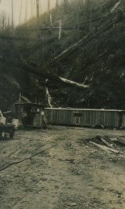 The control center at the Canyon Road construction site - 1920