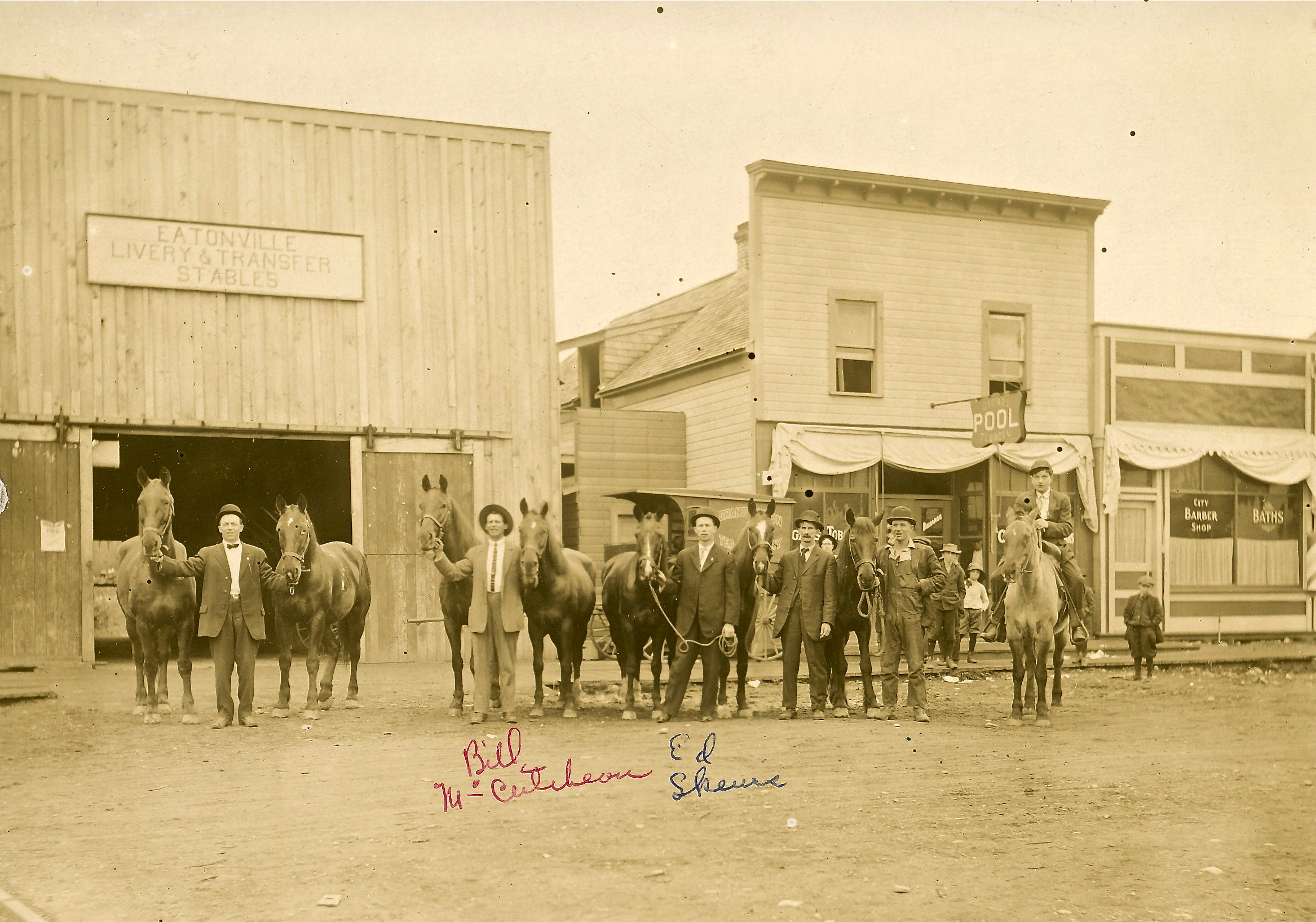 eatonville livery stable amp pool hall ca 1900