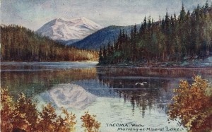 Peterson Postcard of Mineral Lake, 1909