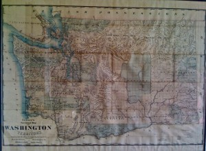 Torger Peterson's original 1885 map of the Washington Territories