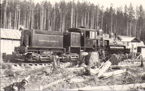 One of Eatonville Lumber Company's locomotives (ca. 1920)