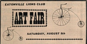 Lions first Art Festival in '72