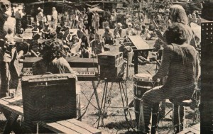 Entertainment at the first festival
