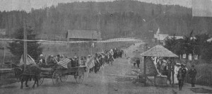 Celebration of the 1st train to arrive in Eatonville, 1904