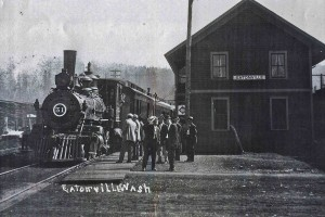 Eatonville Railroad depot around 1918