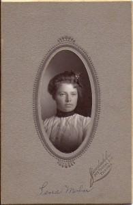 Lena Malm as a young girl 