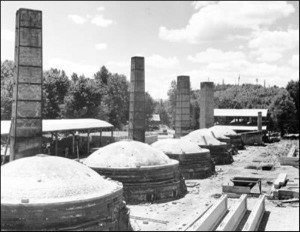 Clay City stacks and kilns