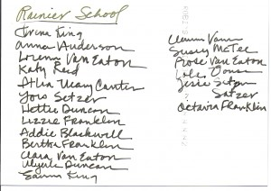 Old Rainier School - names