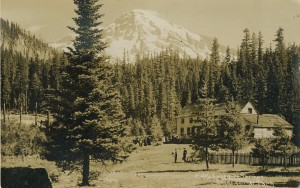 Hotel Longmire Springs postcard to A. Peterson