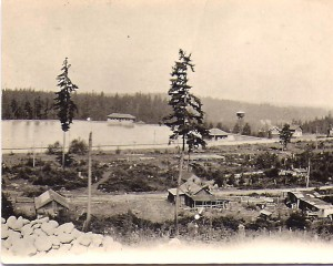 La Grande Dam and farm ca. 1915