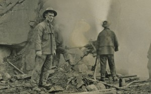 Explosives team — Canyon Road building 1920s