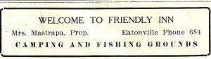 Friendly Inn Ad (1929)