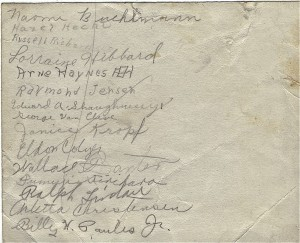 Names of children from the class of 1942 (ca. 1932)