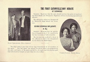 1913 School Catalog - Debate Team