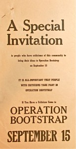 Bootstrap Invitation, 1953