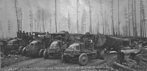 Griffith & Graeber's fleet of Kelly Trucks, early 20s