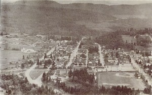Looking down at Eatonville (1950s)