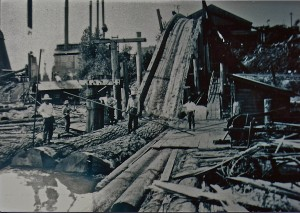 Log slip & mill at National