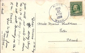 Postcard to Marie Lutkens from her sister Minnie 1910