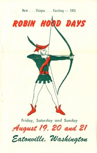 Robin Hood Days Program cover (1954)