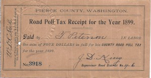 Road Poll Tax 1899-1