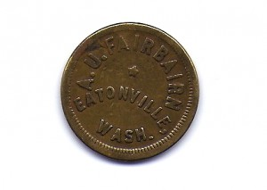 Fairbairn Token (early 1900s) Front