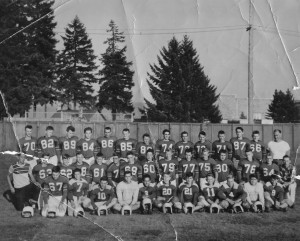 The entire 1953 Eatonville football team