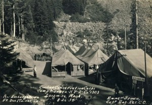 CCC Camp at Longmire, 1934