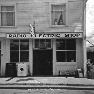 Front of Daly's Radio Repair Shop (1940s)