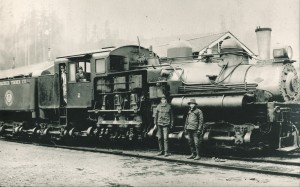 One of Weyerhaeuser Timber Company's locomotives