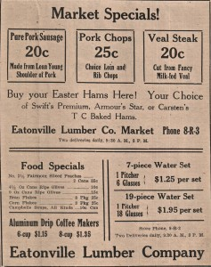 1936 Ad from Eatonville Lumber Company
