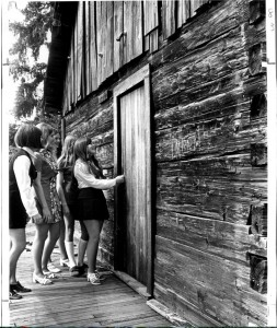 1971 Van Eaton Log cabin with EHS girls